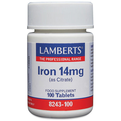 Lamberts Iron 14mg (as Citrate) - 100 Tabs