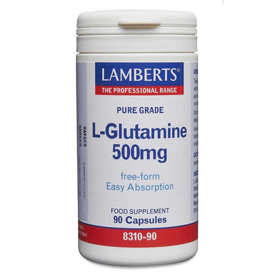 Lamberts L-Glutamine 500mg - 90 Caps