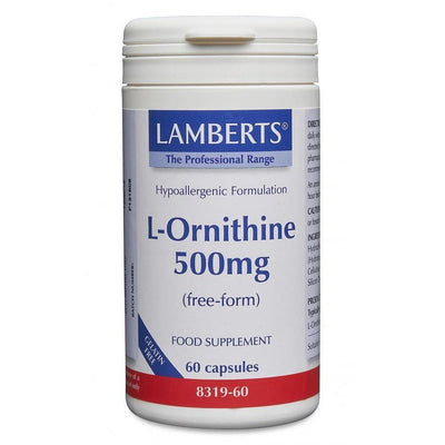 Lamberts L-Ornithine 500mg - 60 Caps