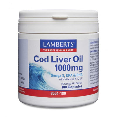 Lamberts Cod Liver Oil 1000mg - 180 Caps