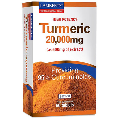 Lamberts High Potency Turmeric 20000mg 60 Tablets