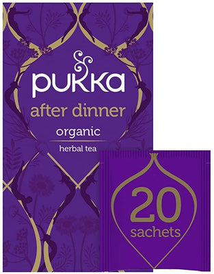 Pukka Herbal Teas After Dinner Herbal Tea, 20 Ct