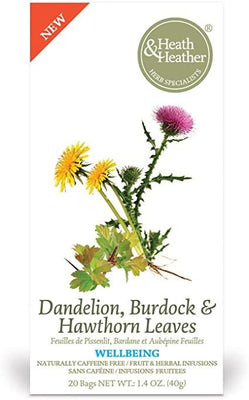 Heath and Heather Dandelion, Burdock and Hawthorn Leaves 20 Teabags