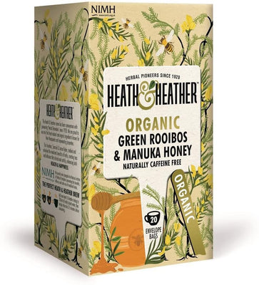 Heath & Heather Organic Green Rooibos & Honey Tea 20 Bags