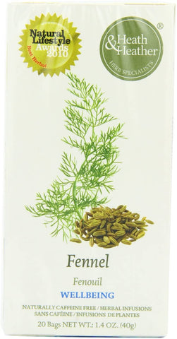 Heath and Heather Fennel Herbal Tea 20 Bags