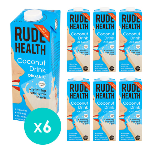 Rude Health Organic Coconut Drink 1ltr (Pack of 6)