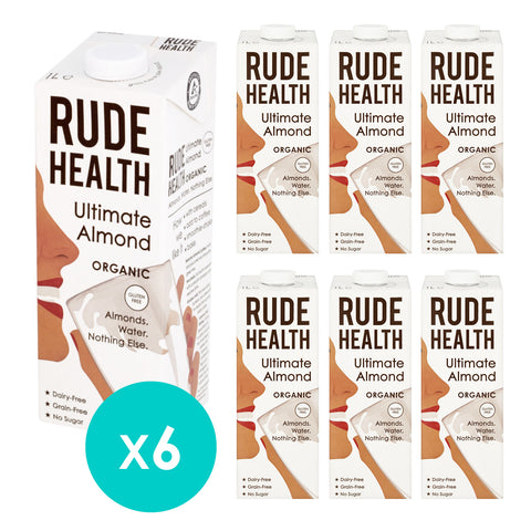 Rude Health Organic Ultimate Almond Drink 1L (Pack of 6)