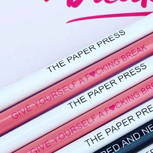 PAPER PRESS GIVE YOURSELF A BREAK PENCIL SET (4)