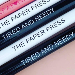 PAPER PRESS TIRED & NEEDY PENCIL SET (4)