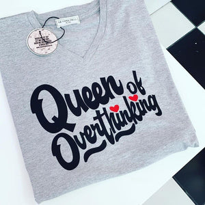 QUEEN OF OVERTHINKING V-NECK TEE