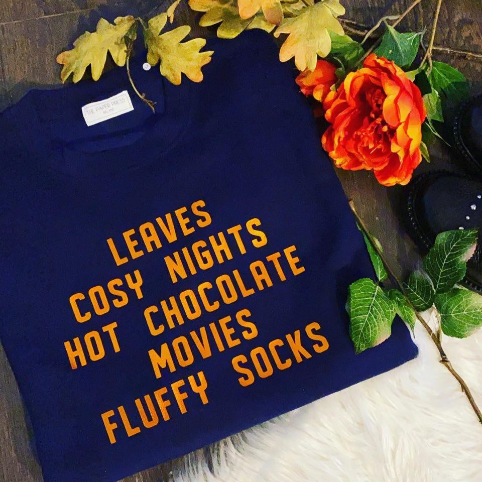 AUTUMN SLOGAN SWEATER