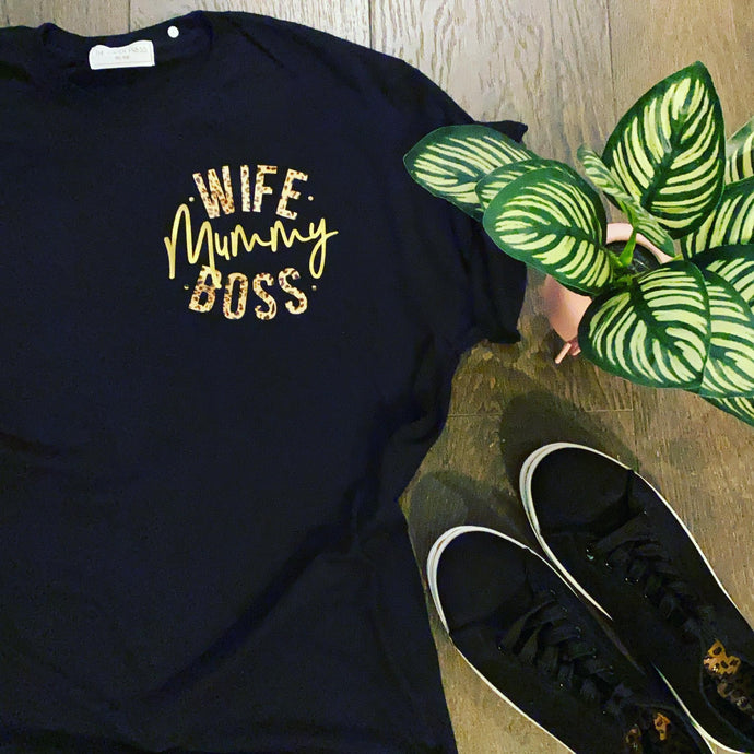 WIFE MUMMY BOSS TEE