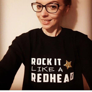 ROCK IT LIKE A REDHEAD SWEATER