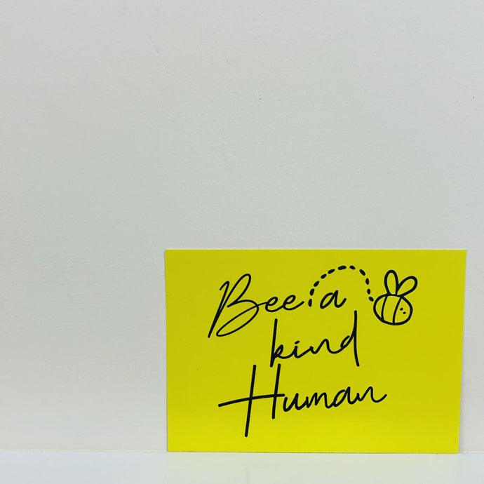 BE A KIND HUMAN A6 POSTCARD