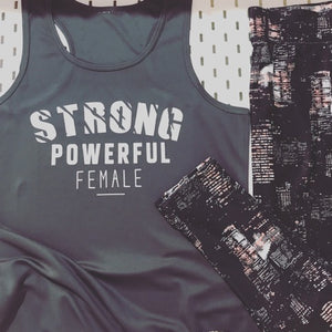 Strong. Power. Female. Gym Set