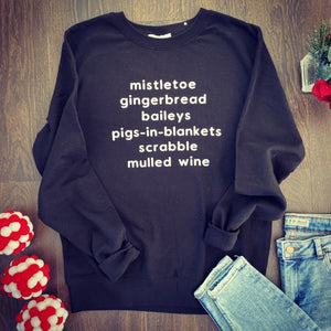 Christmas Words Sweater