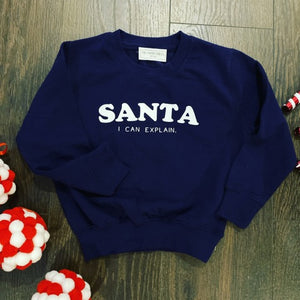 SANTA I CAN EXPLAIN KIDS SWEATER