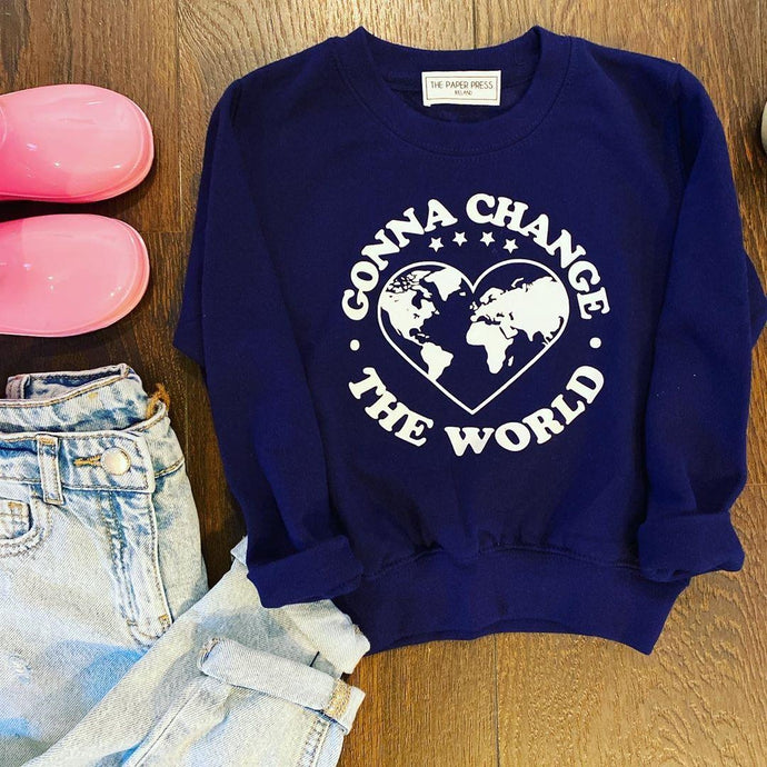 GONNA CHANGE THE WORLD KIDS SWEATER
