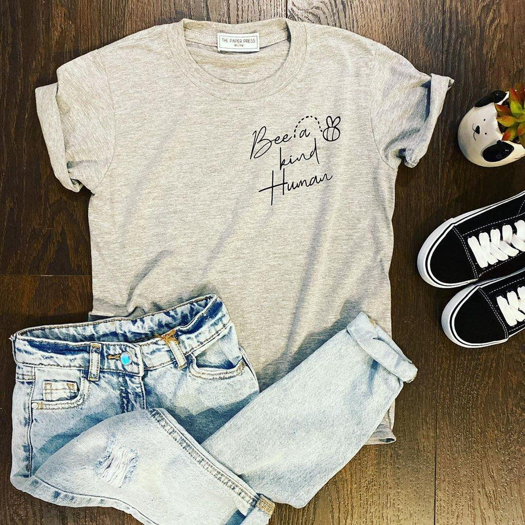 Bee a kind human Kids Tee