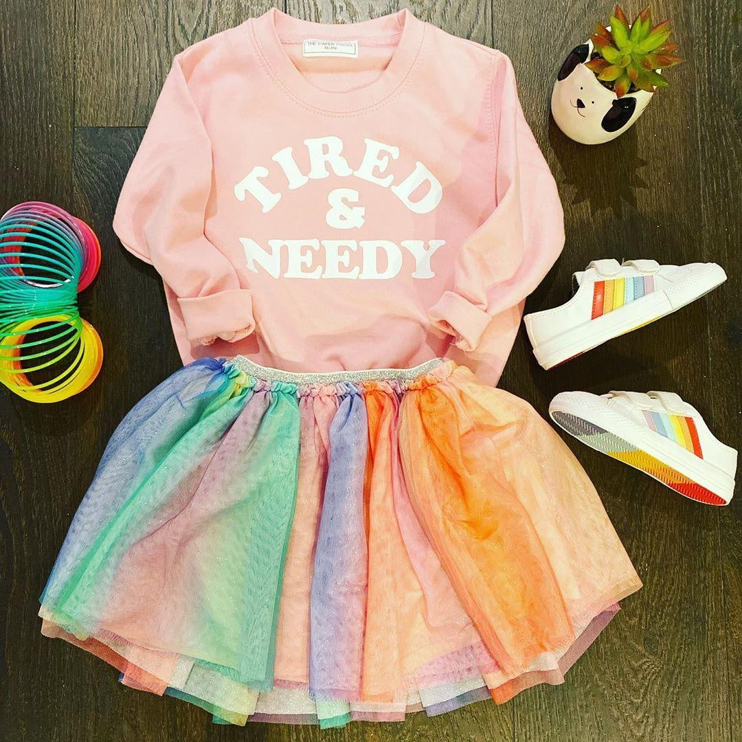 Tired & Needy Kids Sweater