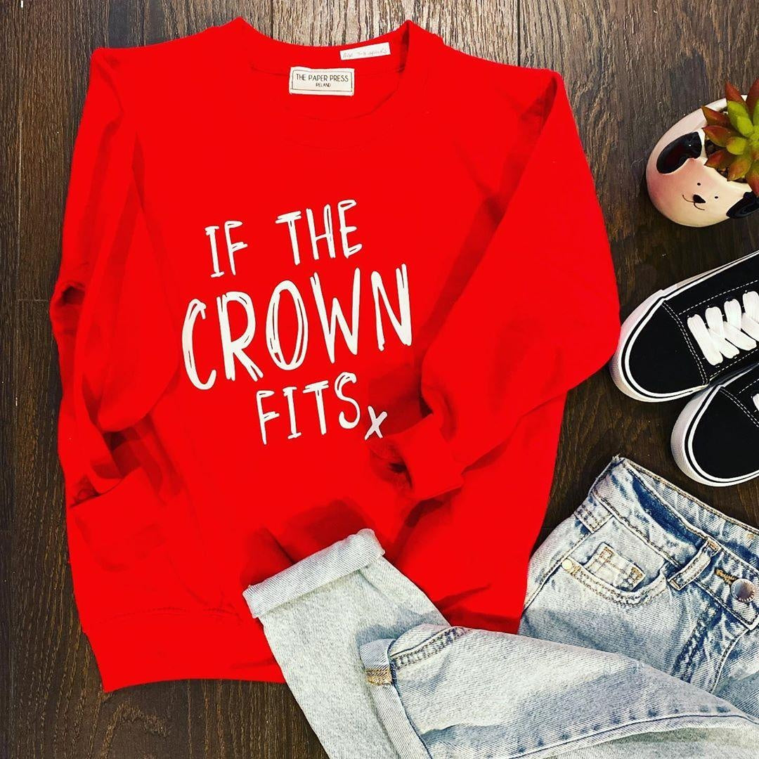 IF THE CROWN FITS KIDS SWEATER