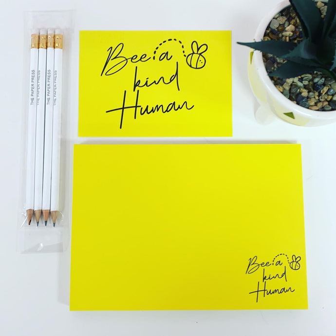BEE A KIND HUMAN STATIONERY SET