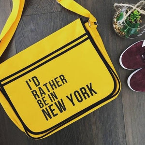 Slogan Messenger Bag