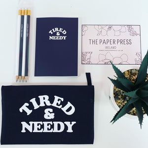 TIRED AND NEEDY STATIONERY SET