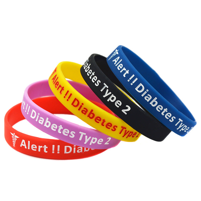 Type 2 Diabetes Silicone Medical Bracelet