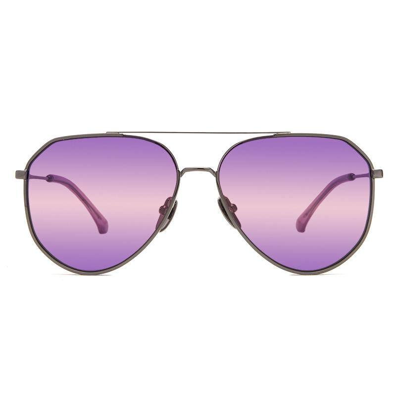 DIFF Dash gunmetal + purple pink gradient polarized lens