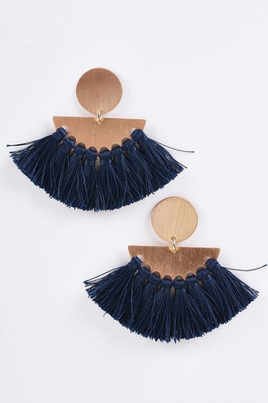 Feeling The Fringe Statement Earring