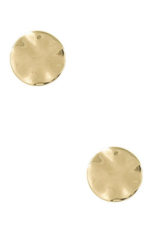 Hammered Statement Earring