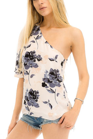 Ophelia Floral One Shoulder Tee