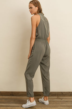 Go Getter Jumpsuit in Olive