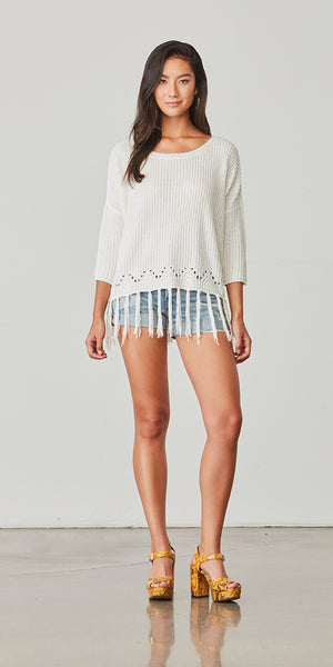 JACK By BB Dakota Kira Fringe Sweater