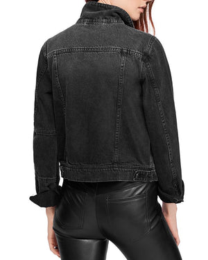 Free People Rumors Denim Jacket in Black