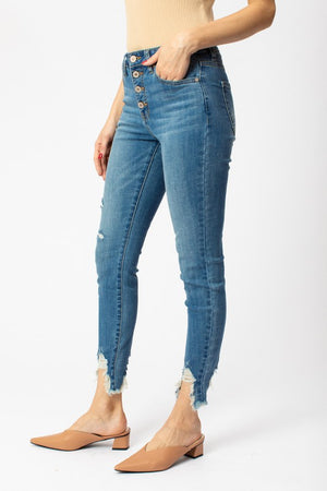 Isabelle Step Hem High Rise Kan Can Denim
