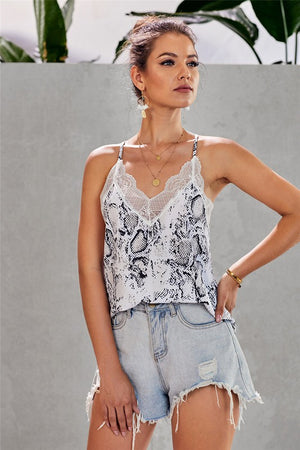 Summer Nights Snakeskin Tank
