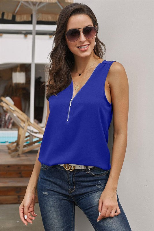 Summer Blues Sleeveless Tank