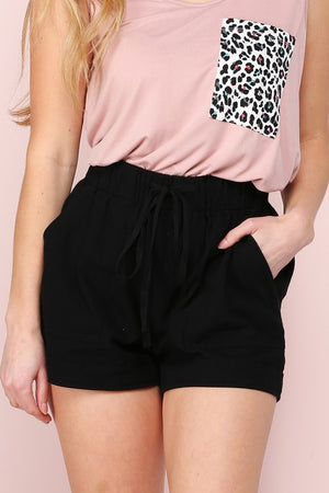 Let's Go Cotton Short in Black