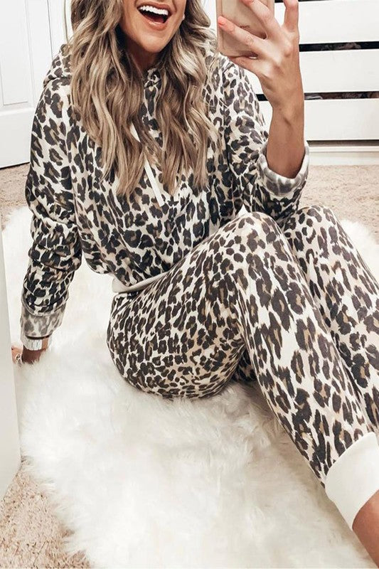 Covergirl Leopard Lounge Set