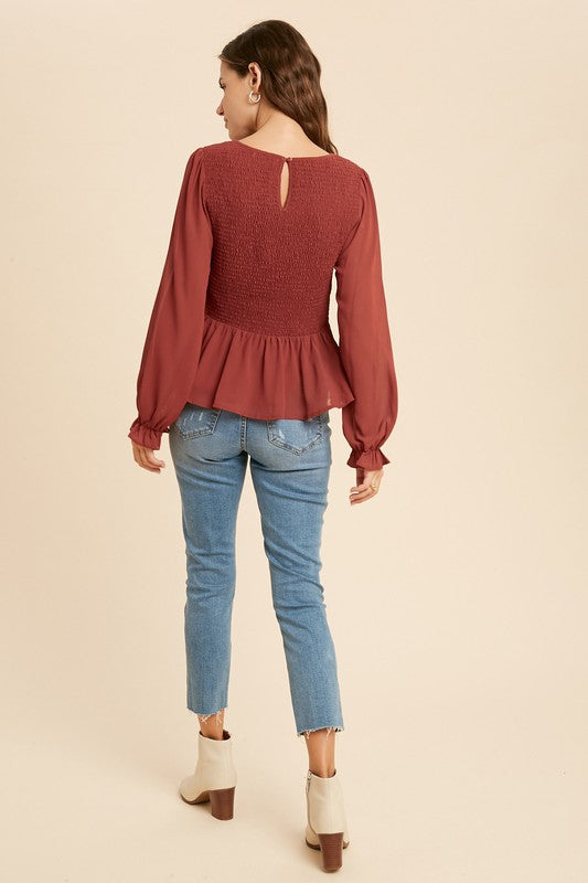 Hello Pumpkin Blouse