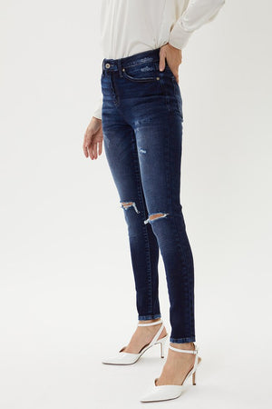Kan Can Knox High Rise Distressed Denim
