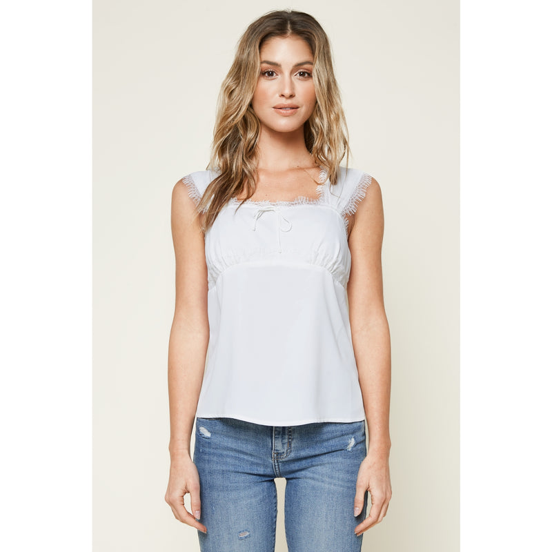 Summit Lace Trim Top