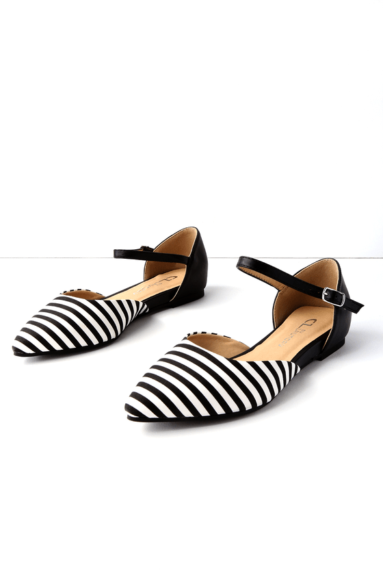 Chinese Laundry Hot Cake Striped Flat