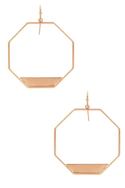 Rose Gold Geometric Earring