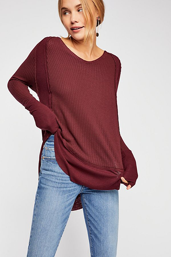 Free People Catalina Thermal in Plumberry