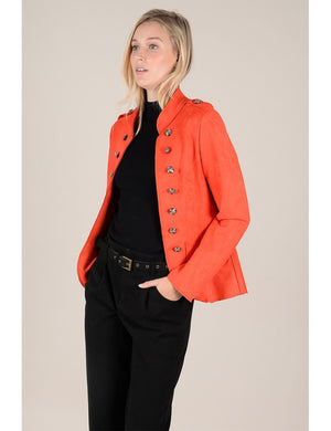 Let's Make It Official Suede Military Blazer