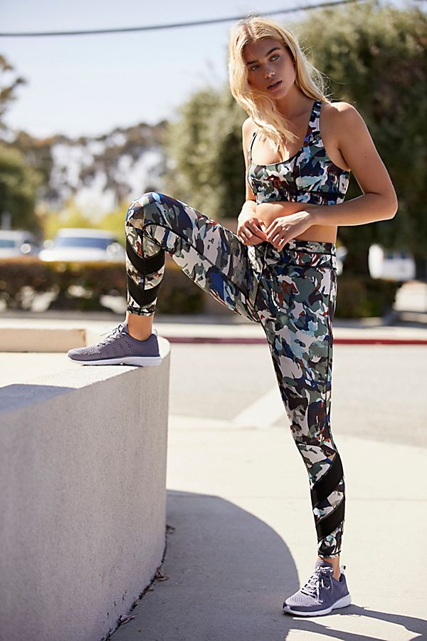 Free People High-Rise Reversible Day Break Camo Legging