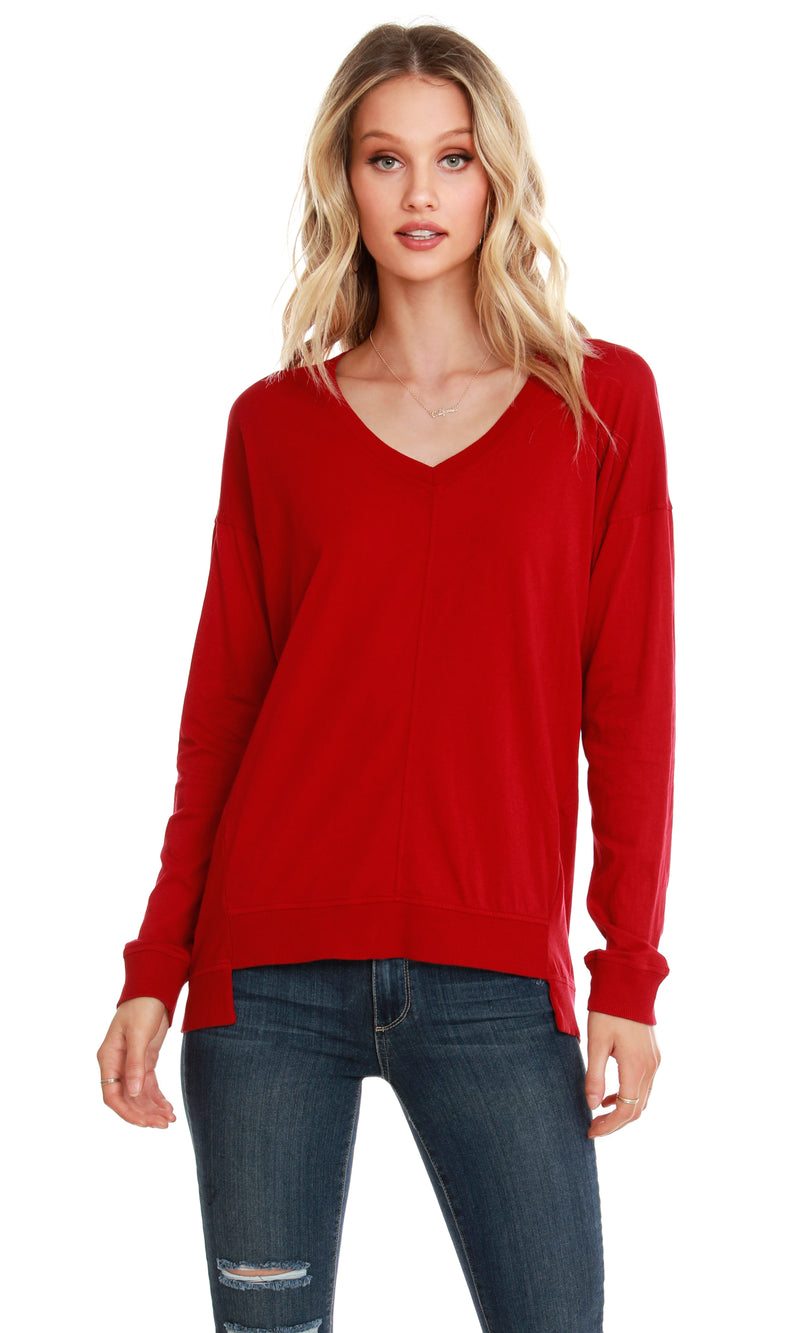 BOBI Rib Mix Stem Hem Tunic
